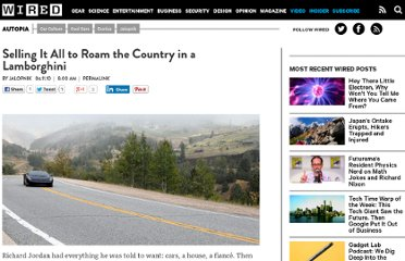 http://www.wired.com/autopia/2010/06/selling-it-all-to-roam-the-country-in-a-lamborghini/