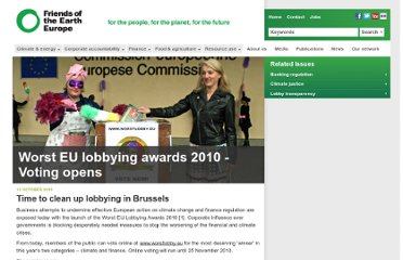 http://www.foeeurope.org/press/2010/Oct13_worst_eu_lobbying_awards_2010.html