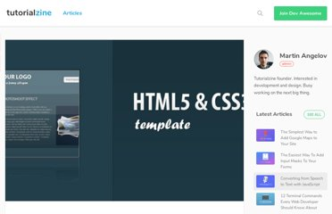 http://tutorialzine.com/2010/02/html5-css3-website-template/