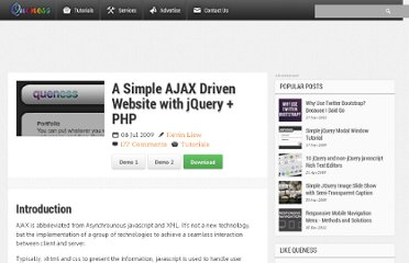 http://www.queness.com/post/328/a-simple-ajax-driven-website-with-jqueryphp
