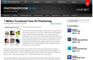 http://blogs.adobe.com/photoshopdotcom/2010/10/1-million-facebook-fans-for-photoshop.html