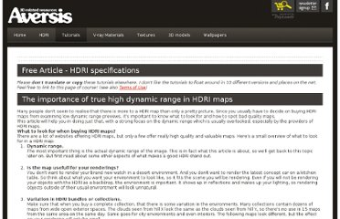 http://www.aversis.be/tutorials/vray/vray-high-dynamic-range-hdri.htm