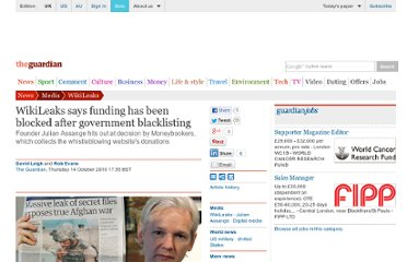 http://www.guardian.co.uk/media/2010/oct/14/wikileaks-says-funding-is-blocked