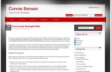 http://conniebensen.com/2010/10/14/community-strategist-role/