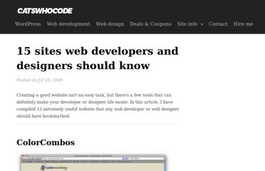 http://www.catswhocode.com/blog/15-sites-web-developers-and-designers-should-know