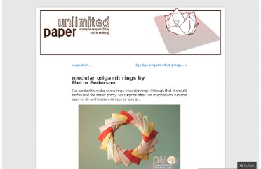 http://paperunlimited.wordpress.com/2007/04/16/modular-origami-rings-by-mette-pederson/