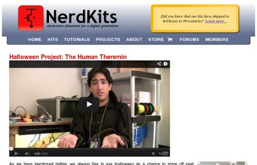 http://www.nerdkits.com/videos/theremin_with_ir_distance_sensor/