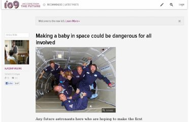 http://io9.com/5664014/making-a-baby-in-space-could-be-dangerous-for-all-involved