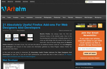 http://artatm.com/2010/09/21-absolutely-useful-firefox-add-ons-for-web-designers-and-developers/