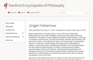 http://plato.stanford.edu/entries/habermas/