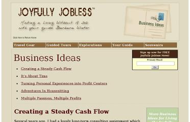 http://www.joyfullyjobless.com/business_ideas.html