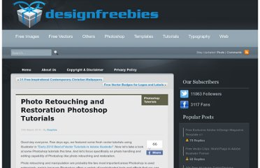 http://www.designfreebies.org/design-tutorials/photoshop-tutorials/photo-retouching-and-restoration-photoshop-tutorials/
