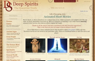http://www.deepspirits.com/life-changing-arts/movies/animated-short-movies2.php