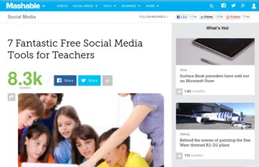 http://mashable.com/2010/10/16/free-social-media-tools-for-teachers/