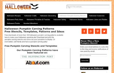 http://www.celebrating-halloween.com/pumpkincarving/index.shtml