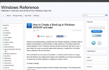 http://www.windowsreference.com/general/how-to-create-a-bootlog-in-windows-2000xp-and-later/