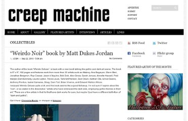 http://www.creepmachine.com/collectibles/weirdo-noir-book-by-matt-dukes-jordan.html