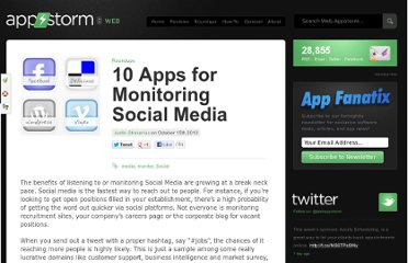 http://web.appstorm.net/roundups/10-apps-to-monitor-social-media/