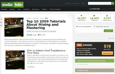 http://audio.tutsplus.com/articles/general/top-10-2009-tutorials-about-mixing-and-mastering/