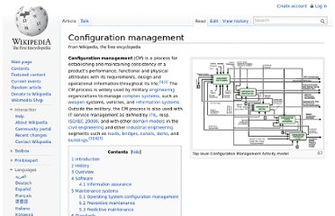http://en.wikipedia.org/wiki/Configuration_management