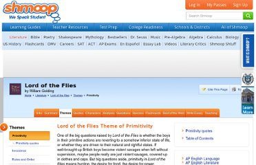 http://www.shmoop.com/lord-of-the-flies/primitivity-theme.html