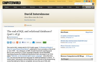 http://blogs.computerworld.com/15510/the_end_of_sql_and_relational_databases_part_1_of_3
