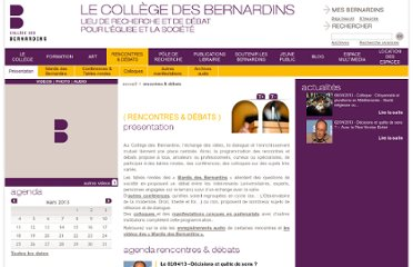 http://www.collegedesbernardins.fr/index.php/rencontres-a-debats/conferences/cycle-lhomme-et-lunivers.html
