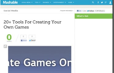 http://mashable.com/2008/01/04/20-tools-for-creating-your-own-games/