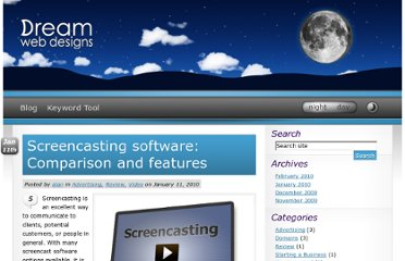 http://dreamwebdesigns.com/screencasting-software-comparison-and-features/