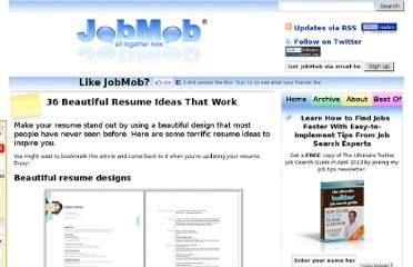 http://jobmob.co.il/blog/beautiful-resume-ideas-that-work/