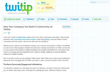 http://www.twitip.com/how-your-company-can-build-a-community-on-twitter/