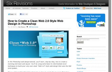 http://sixrevisions.com/tutorials/photoshop-tutorials/how-to-create-a-clean-web-20-style-web-design-in-photoshop/