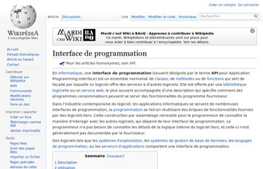 http://fr.wikipedia.org/wiki/Interface_de_programmation