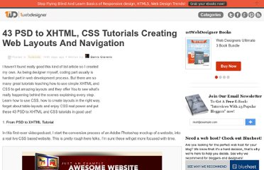 http://www.1stwebdesigner.com/tutorials/43-psd-to-xhtml-css-tutorials-creating-web-layouts-and-navigation/