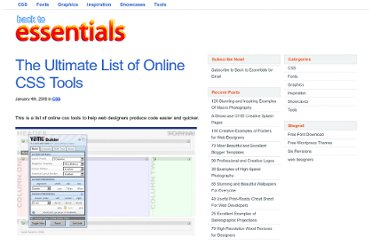 http://www.backtoessentials.com/css/the-ultimate-list-of-online-css-tools/