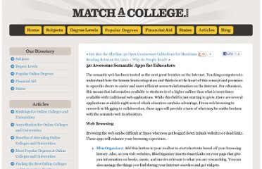 http://www.matchacollege.com/blog/2008/50-awesome-semantic-apps-for-educators/