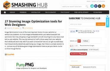 http://smashinghub.com/27-stunning-image-optimization-tools-for-web-designers.htm