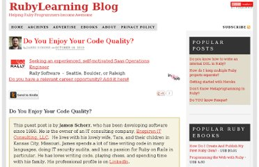 http://rubylearning.com/blog/2010/10/18/do-you-enjoy-your-code-quality/