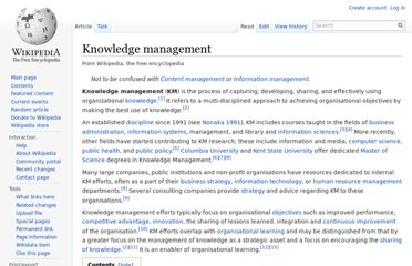 http://en.wikipedia.org/wiki/Knowledge_management