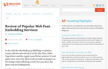 http://www.smashingmagazine.com/2010/10/20/review-of-popular-web-font-embedding-services/