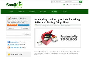 http://www.smallfuel.com/blog/entry/productivity-toolbox-37-tools-for-taking-action-and-getting-things-done/
