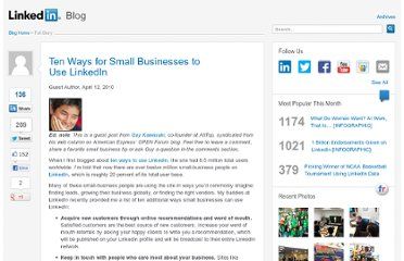 http://blog.linkedin.com/2010/04/12/linkedin-small-business-tips/