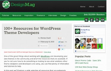 http://designm.ag/resources/wordpress-theme-developers/