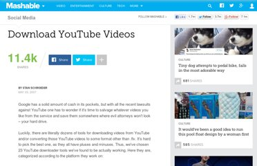 http://mashable.com/2007/05/05/download-youtube-video/