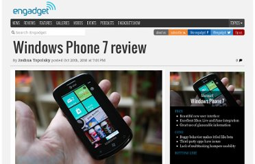 http://www.engadget.com/2010/10/20/windows-phone-7-review/