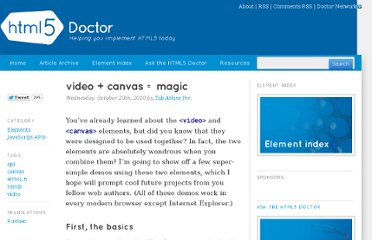 http://html5doctor.com/video-canvas-magic/