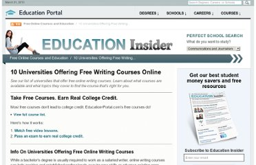 http://education-portal.com/articles/10_Universities_Offering_Free_Writing_Courses_Online.html