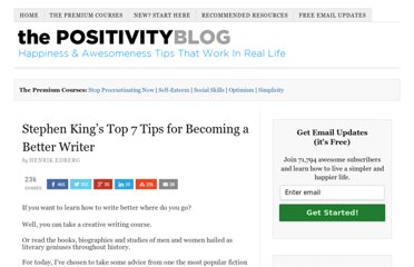 http://www.positivityblog.com/index.php/2007/10/08/stephen-kings-top-7-tips-for-becoming-a-better-writer/