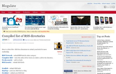 http://blogulate.com/content/compiled-list-of-rss-directories/