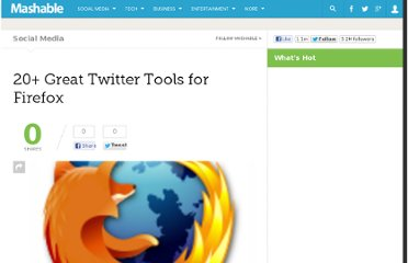 http://mashable.com/2009/01/29/twitter-tools-for-firefox/